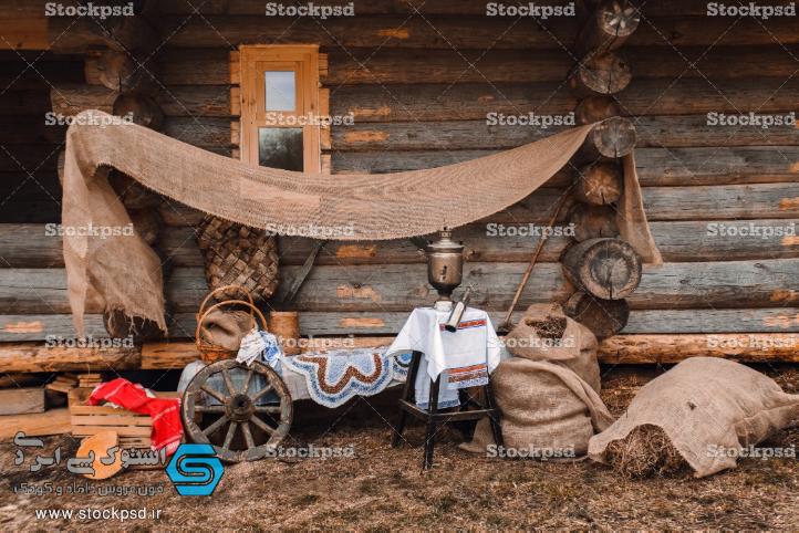 دانلود بکدراپ نوزاد با چرخ و عناصر طبیعی