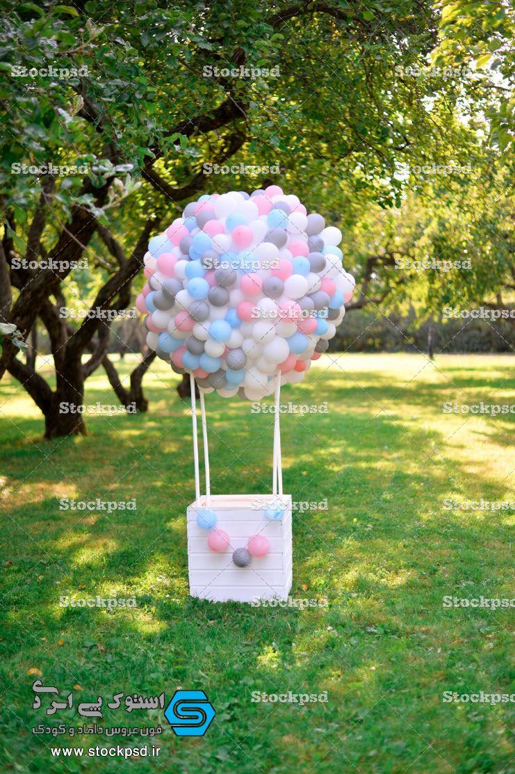 بک گراند طراحی عکس کودک بالن بادکنکی
