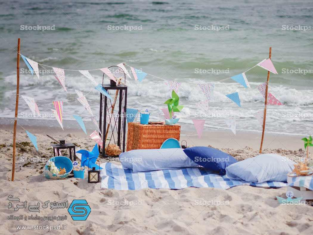 بک گراند عکاسی ساحل دریا