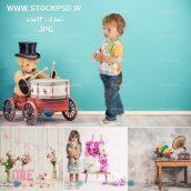دانلود جدیدترین بک گراندهای آتلیه مخصوص طراحی عکس کودک