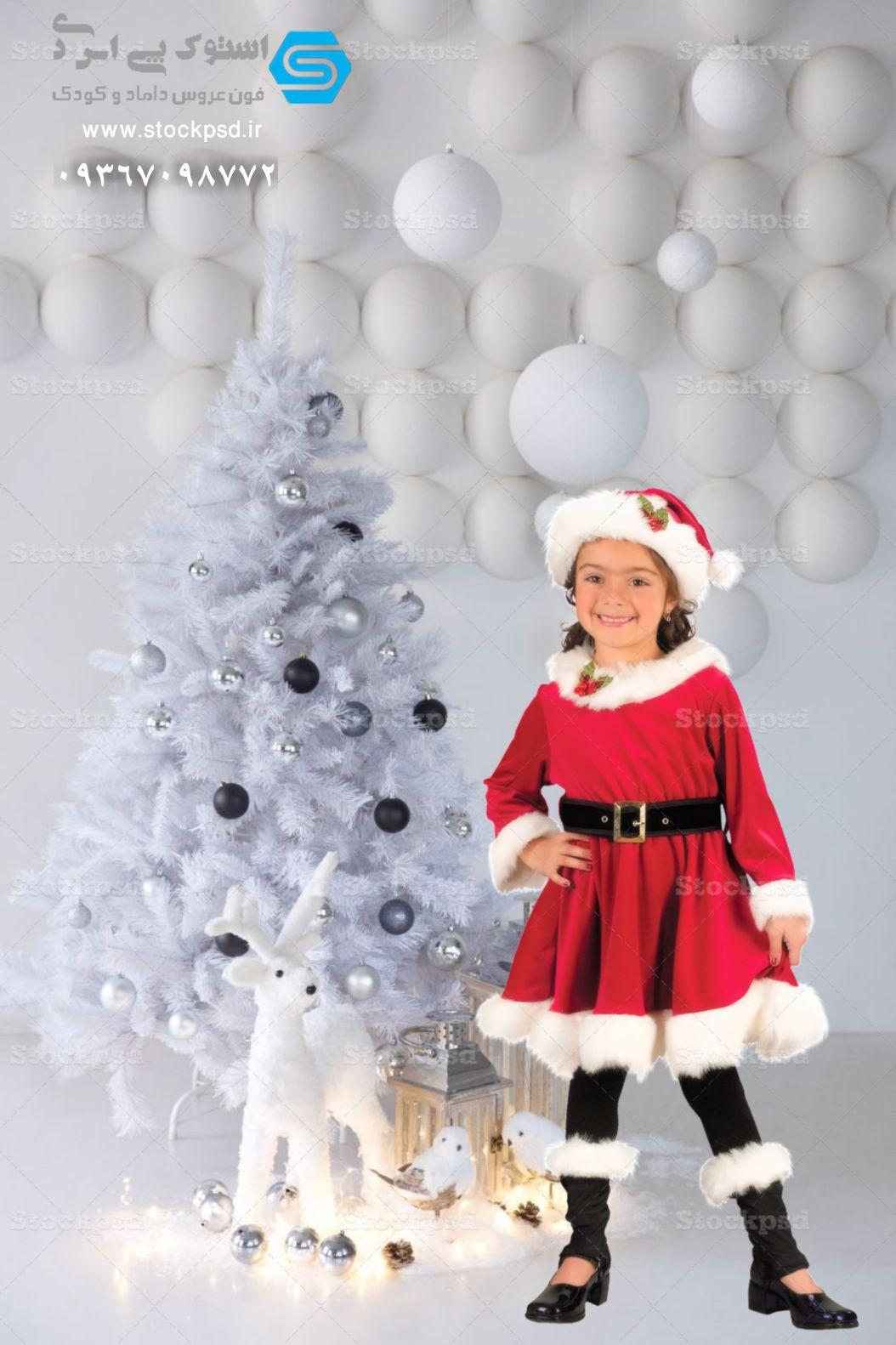 بک گراند با دکور زمستان و کریسمس