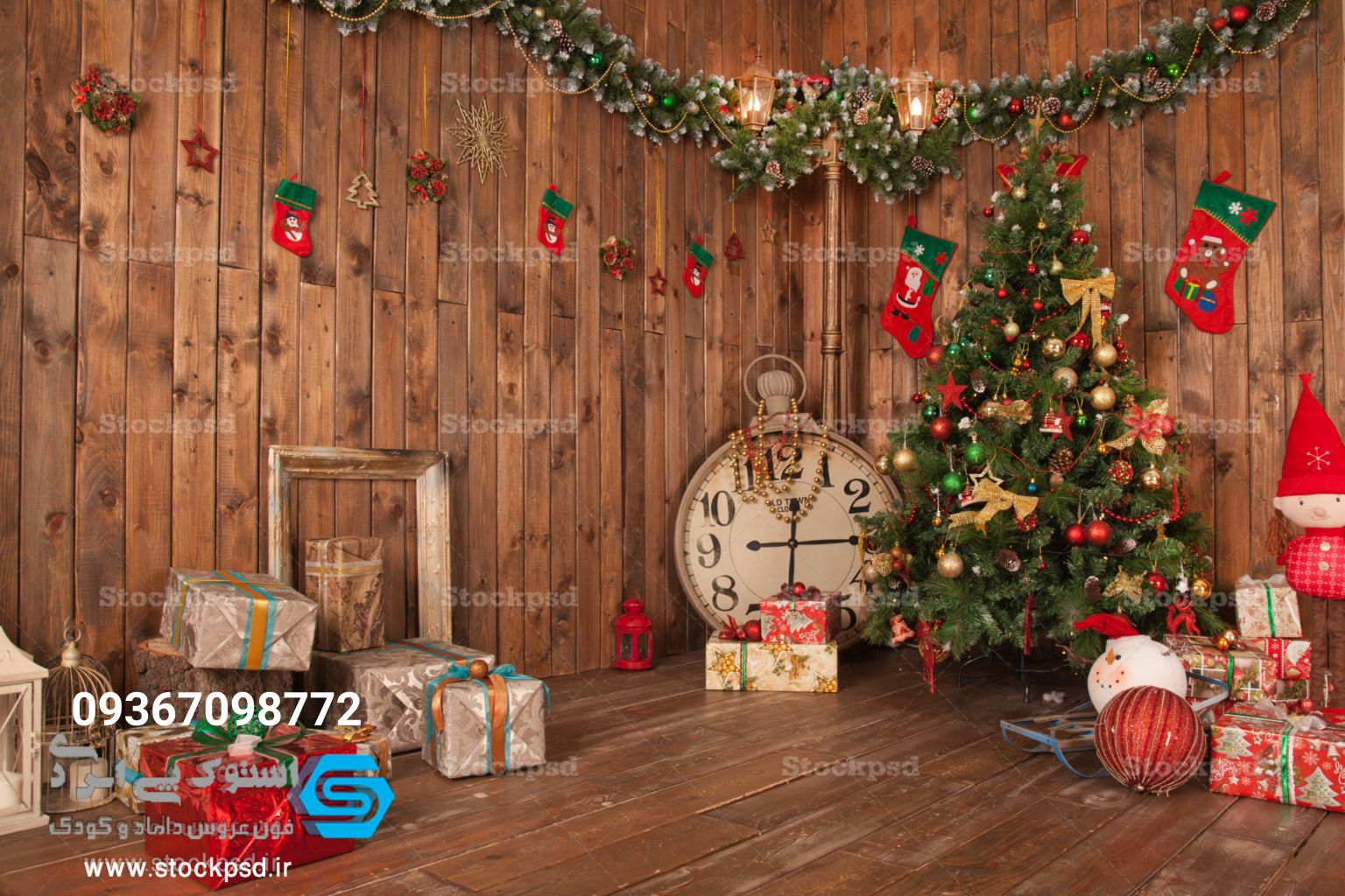 بک گراند آتلیه کریسمس
