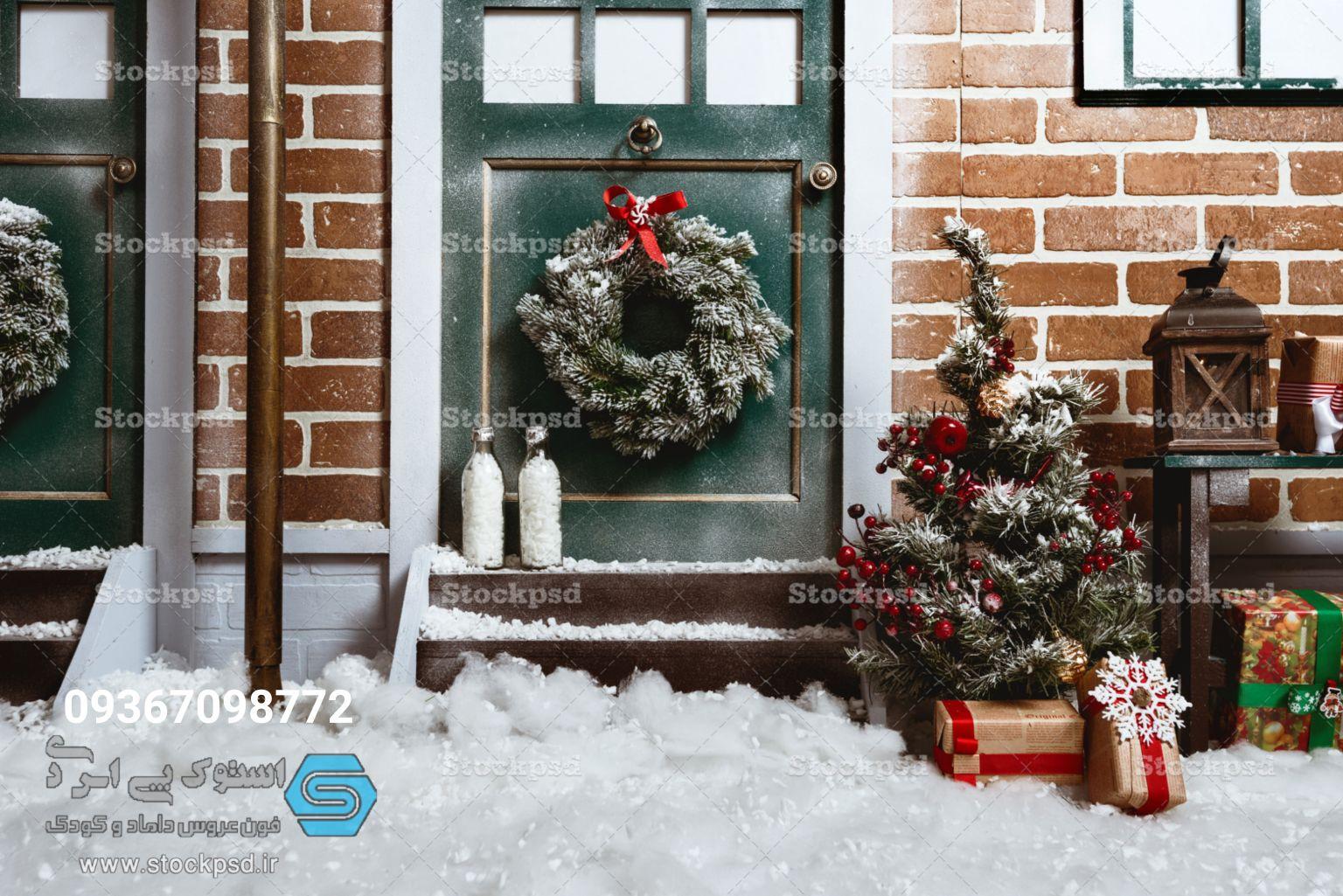 بک گراند زمستان کریسمس