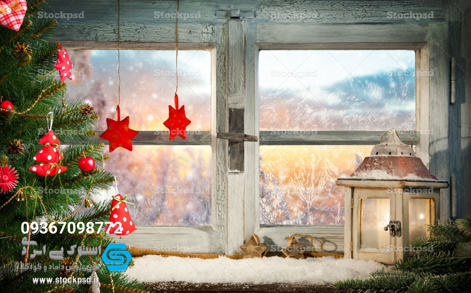بک گراند جشن کریسمس