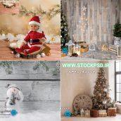 پس زمینه زمستان و کریسمس