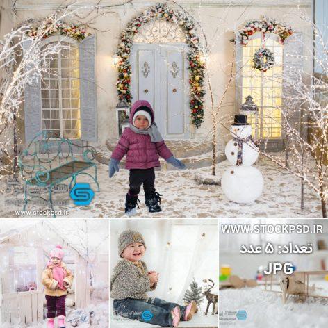 بک گراند زمستانی برای طراحی عکس کودک کد :۹۸۹۰۹