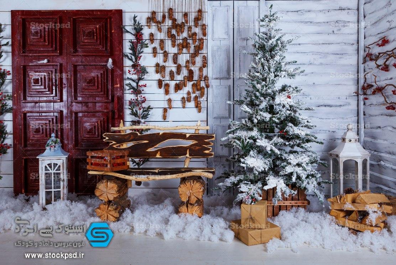 پس زمینه کریسمس عکاسی