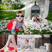 پس زمینه دکور عکاسی برای طراحی عکس کودک