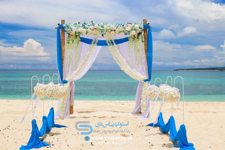 بک گراند فضای باز عروس و داماد