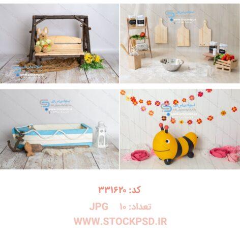 مجموعه بک گراند عکاسی کودک و نوزاد